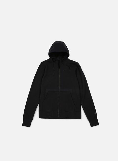 felpe nike af1 full zip hoodie black black