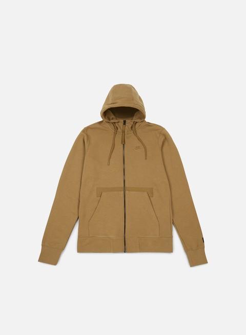 felpe nike af1 full zip hoodie golden beige golden beige