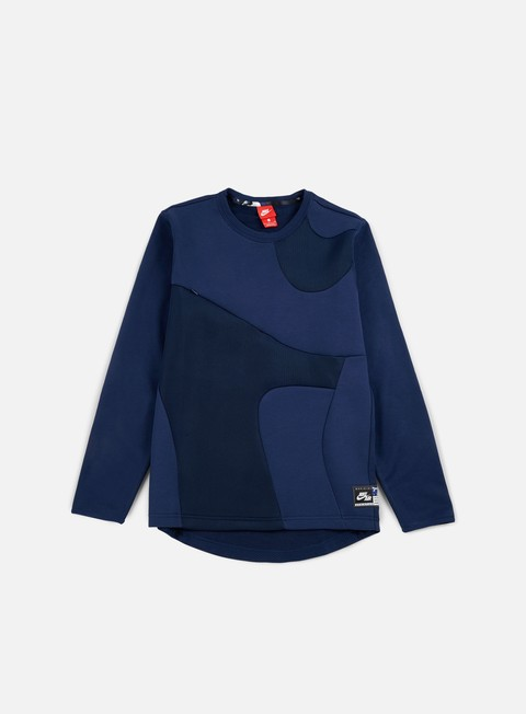 felpe nike air crewneck binary blue
