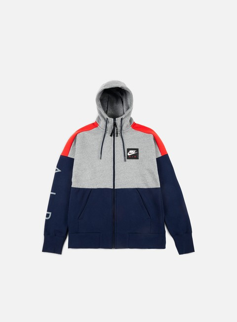 Outlet e Saldi Felpe con Cappuccio Nike Air Fleece Full Zip Hoodie