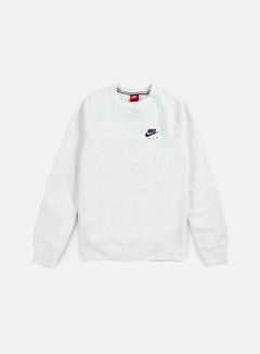 Nike - Air Heritage Crewneck, White/Coastal Blue 1
