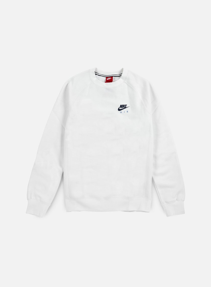 Nike - Air Heritage Crewneck, White/Coastal Blue