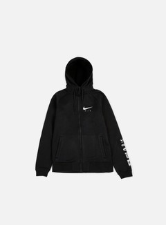 Nike - Air Hybrid Full Zip Hoodie, Black/White