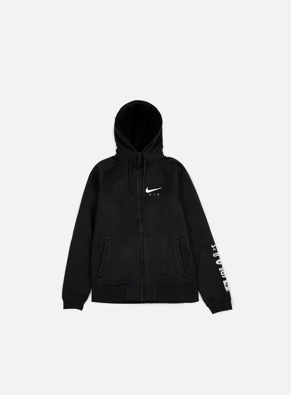 Nike - Air Hybrid Full Zip Hoodie, Black/White
