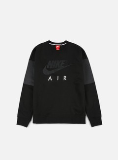 Nike - Air LS Crewneck, Black/Anthracite