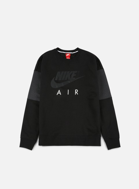 felpe nike air ls crewneck black anthracite