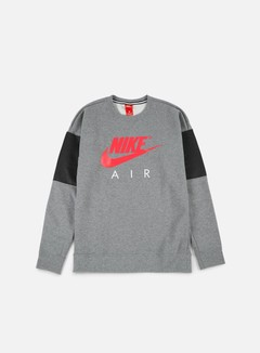 Nike - Air LS Crewneck, Carbon Heather/Anthracite