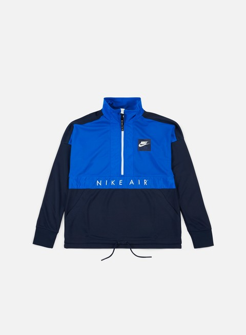 felpe nike air ls half zip top blue nebula white