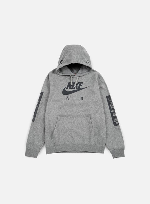 felpe nike air max hoodie carbon heather anthracite