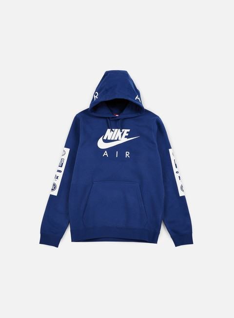 felpe nike air max hoodie coastal blue white