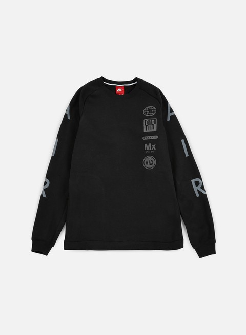 felpe nike air totem crewneck black dark grey