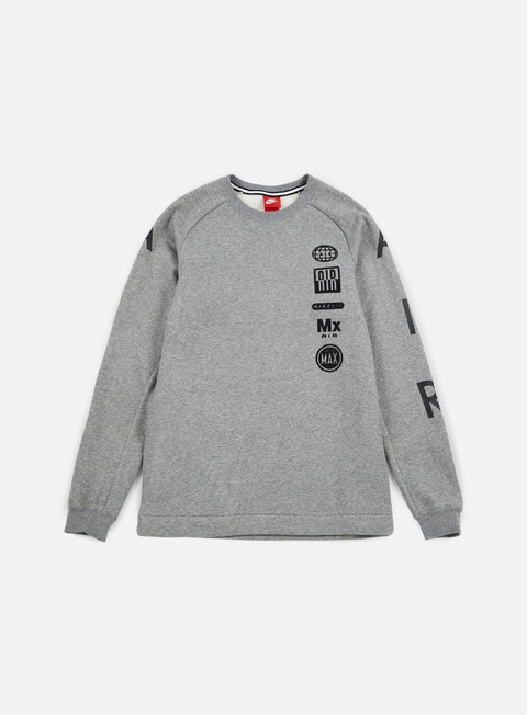 felpe nike air totem crewneck carbon heather charcoal heather