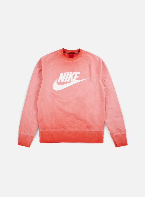 felpe nike alumni light crewneck light crimson white