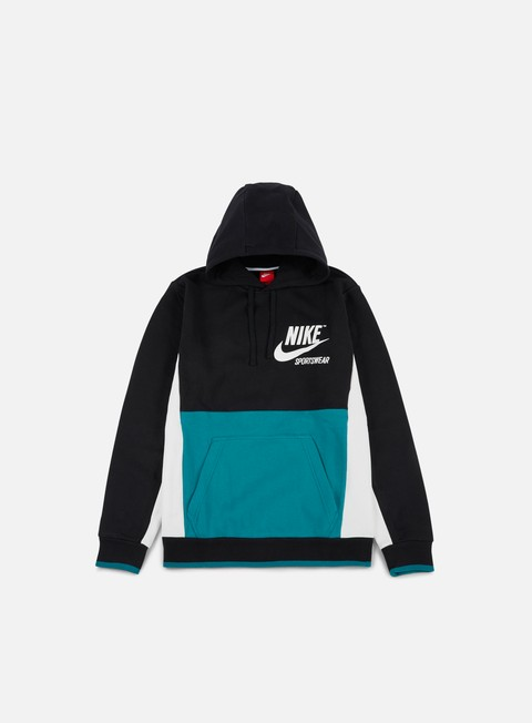 felpe nike archive hoodie black bustery