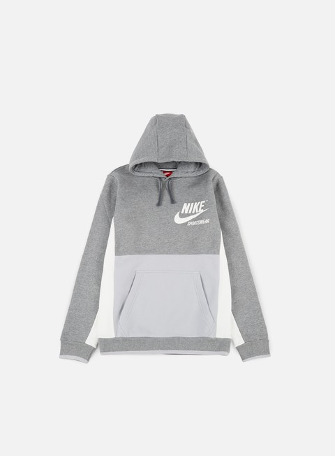 felpe nike archive hoodie carbon heather wolf grey