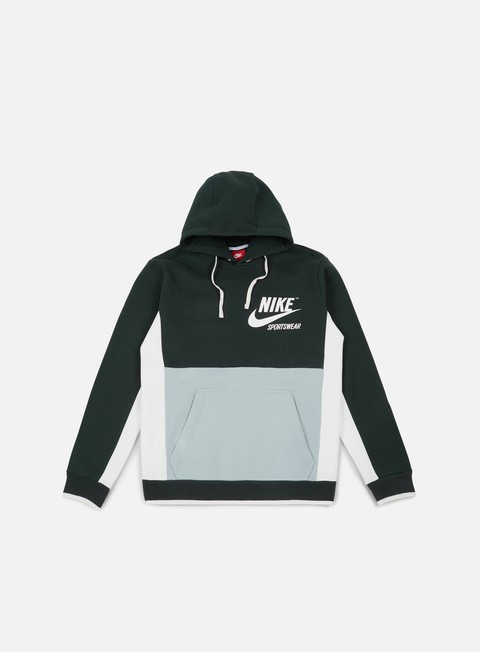 felpe nike archive hoodie outdoor green sail