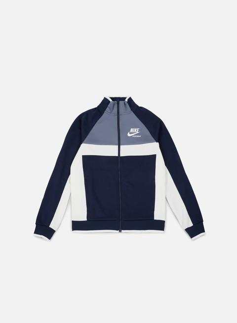 felpe nike archive pk track jacket obsidian sail