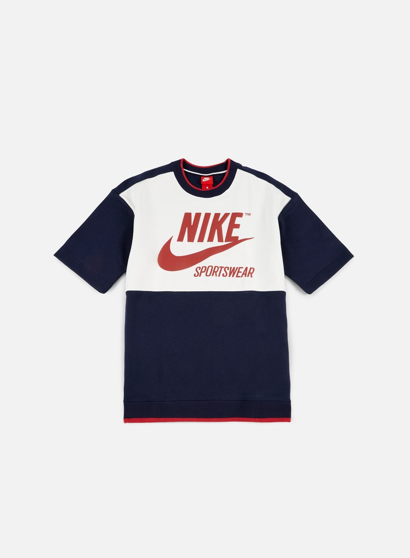 Nike - Archive SS Crewneck, Obsidian/Sail