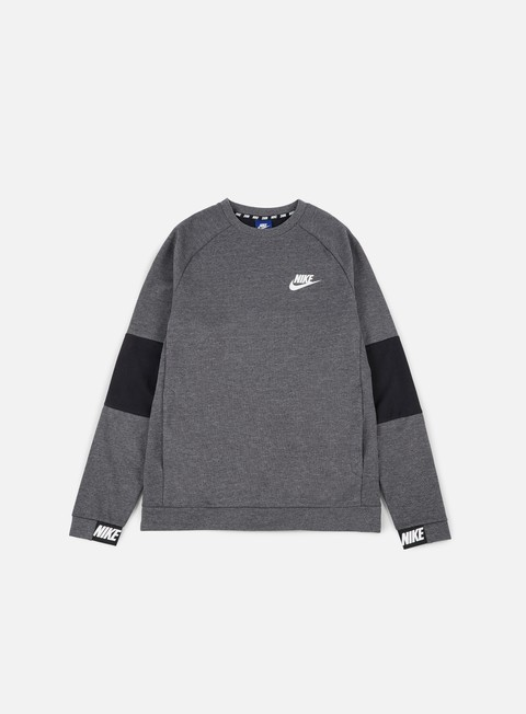 felpe nike av15 crewneck charcoal heather white