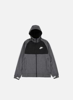 Nike - AV15 Full Zip Hoodie, Charcoal Heather/White 1