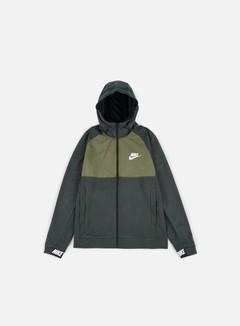 Nike - AV15 Full Zip Hoodie, Outdoor Green/White