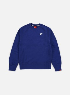 Nike - AW77 French Terry Crewneck, Deep Royal Blue/White 1