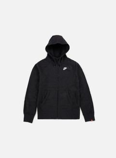 Nike - AW77 Full Zip Hoody, Black/White 1