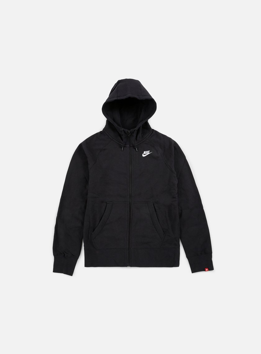 Nike - AW77 Full Zip Hoody, Black/White