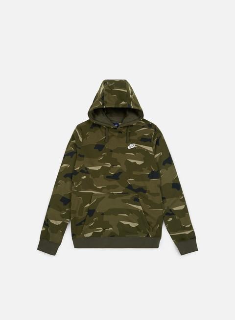 felpe nike club camo hoodie cargo khaki white