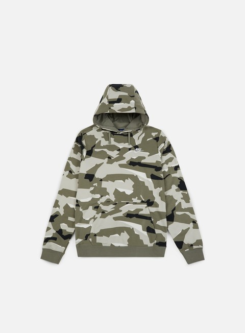 felpe nike club camo hoodie light bone white