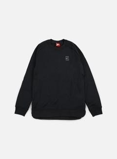 Nike - Court Crewneck, Black/Black/White