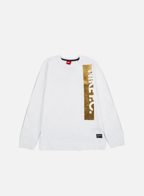 felpe nike fc metallic logo crewneck white