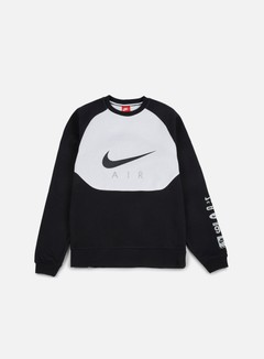 Nike - Hybrid Fleece Air Crewneck, Black/Black 1