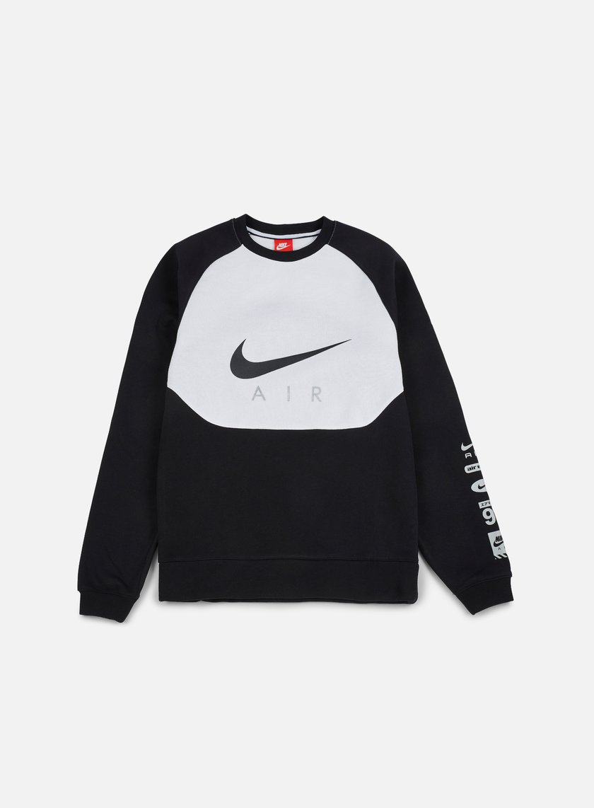Nike - Hybrid Fleece Air Crewneck, Black/Black