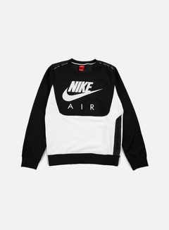 Nike - Hybrid Fleece Air Crewneck, Black/White 1