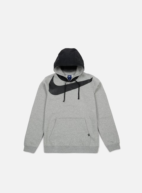 felpe nike hybrid fleece hoodie dark grey heather black