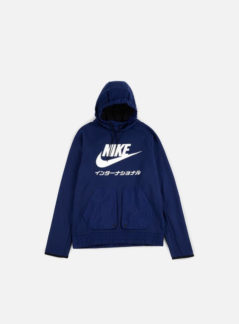 felpe nike international hoodie binary blue