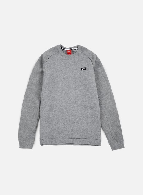 felpe nike modern crewneck bb carbon heather