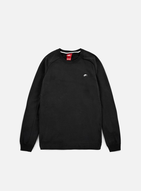 felpe nike modern crewneck black