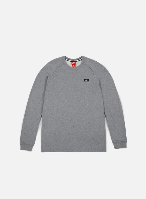 felpe nike modern crewneck carbon heather