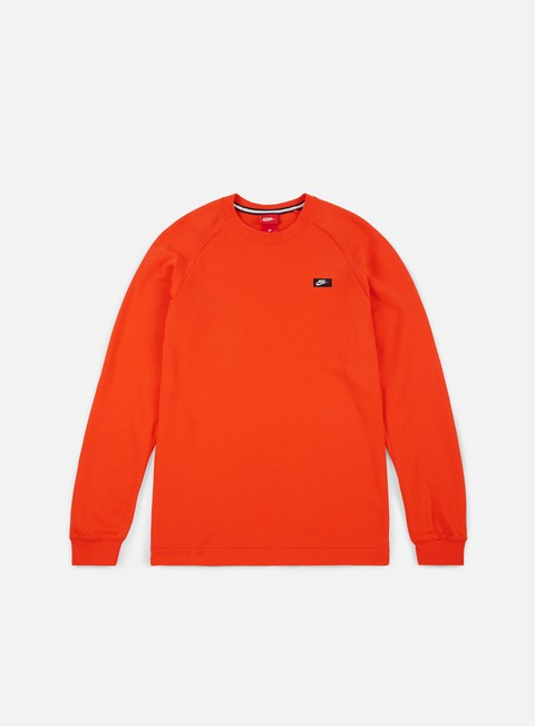 felpe nike modern crewneck team orange