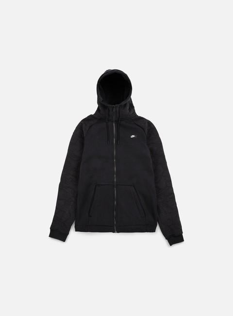 felpe nike modern full zip hoodie bb black