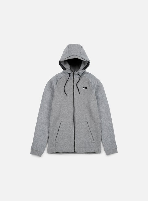 felpe nike modern full zip hoodie bb carbon heather