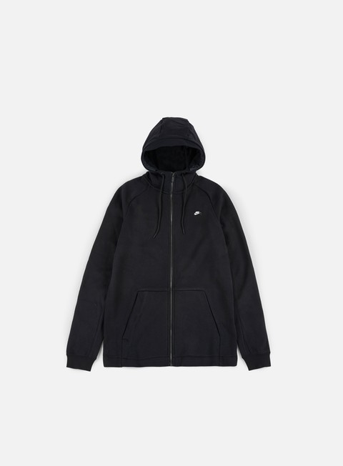 felpe nike modern full zip hoodie black