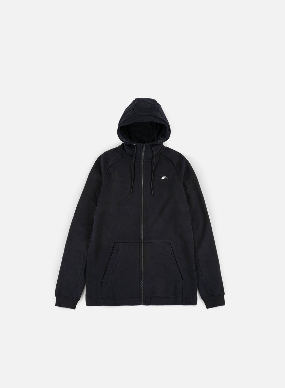 Nike - Modern Full Zip Hoodie, Black