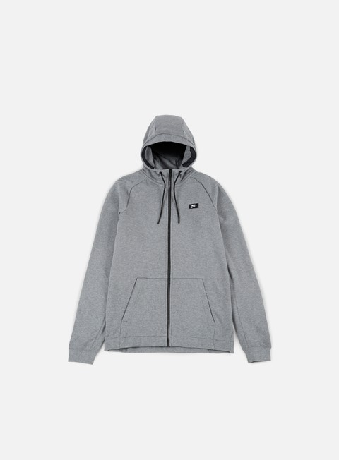 felpe nike modern full zip hoodie carbon heather