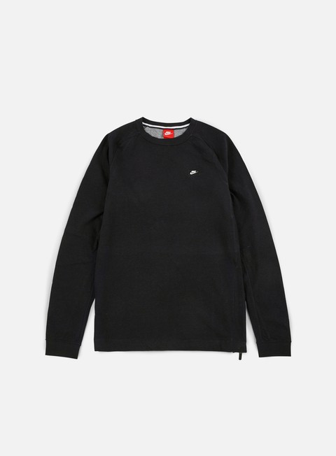 felpe nike modern lite crewneck black carbon heather