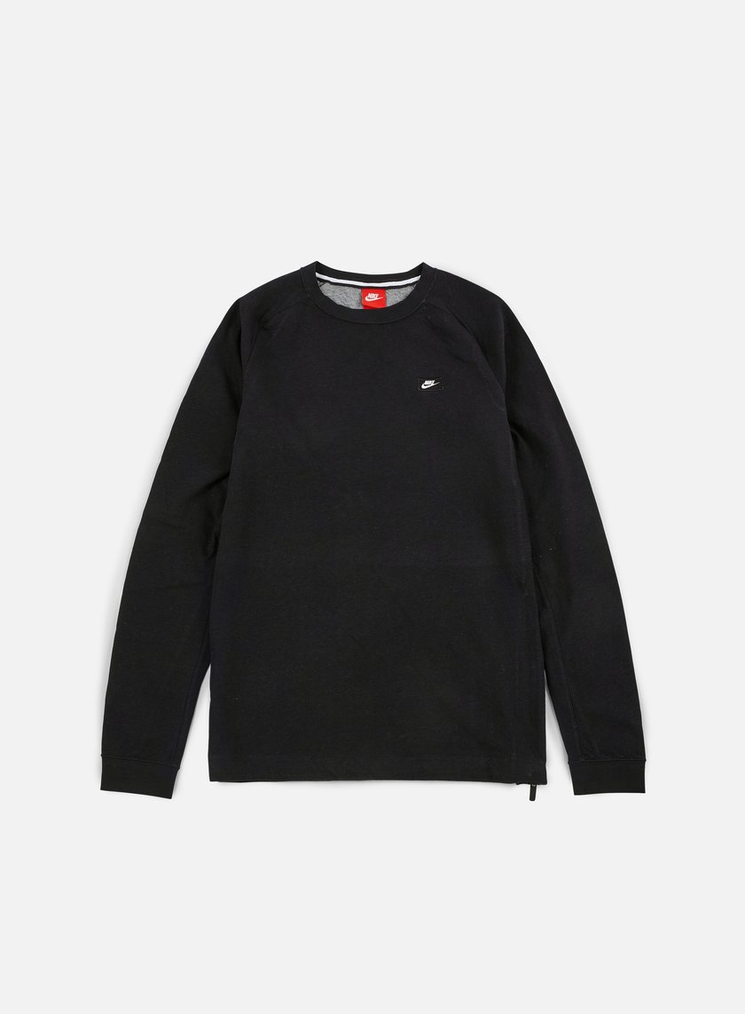 Nike - Modern Lite Crewneck, Black/Carbon Heather