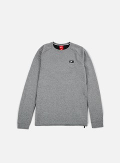 Nike - Modern Lite Crewneck, Carbon Heather/Black