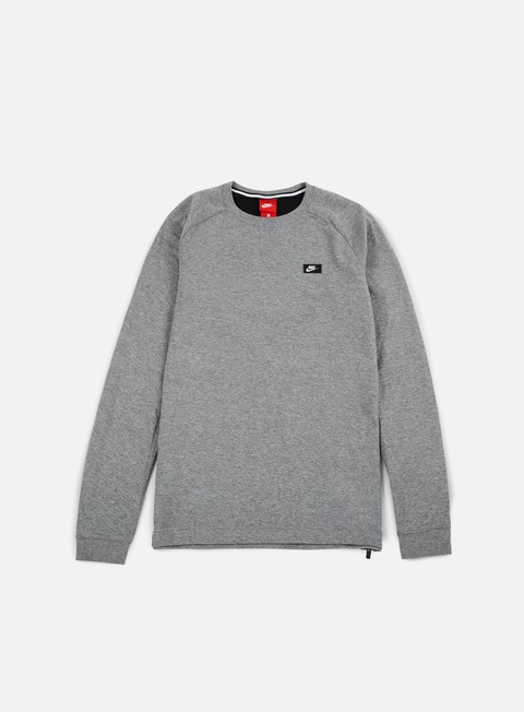 felpe nike modern lite crewneck carbon heather black